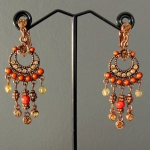 Avon Jewelry - Crystal and bead chandelier earrings